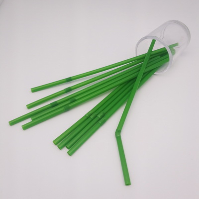Flexible 6*200mm green 100% Compostable Biodegradable FDA Certified ECO Friendly Drinking PLA Straw
